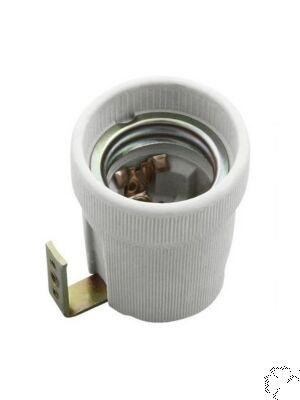 Portalampada in ceramica con staffa E27